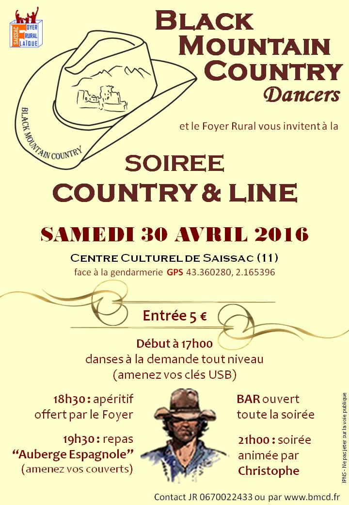 Affiche bal country saissac 2015 2016
