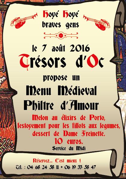 Affiche repas medieval 2016