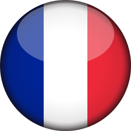 France flag 3d round icon 256