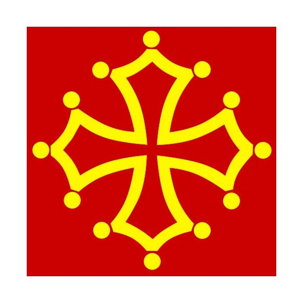 Tee shirt rouge croix occitane